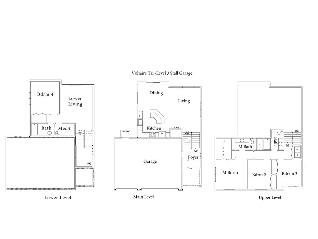 The Voltaire Floor Plan Drawing