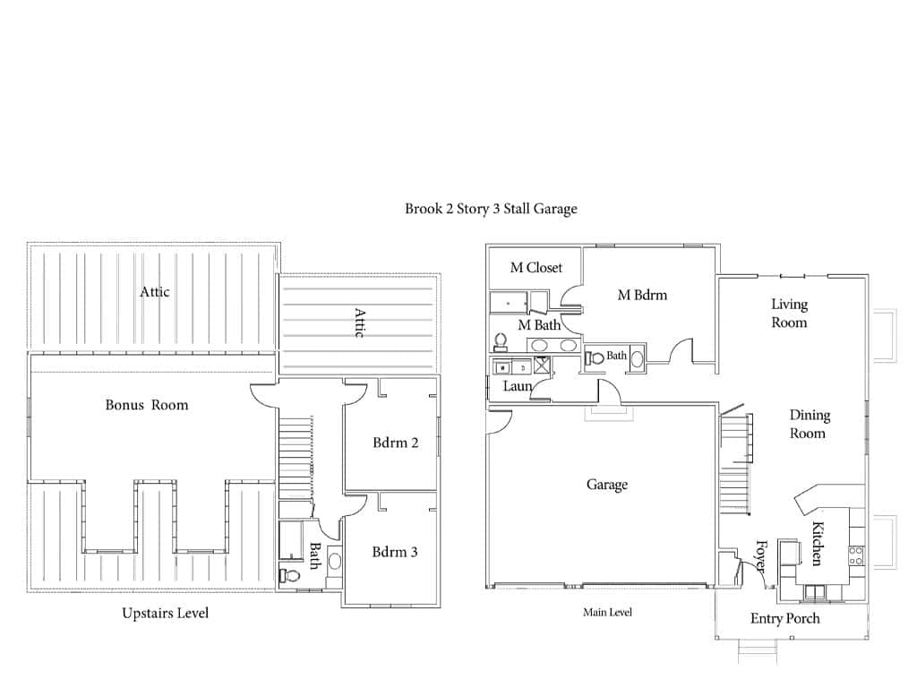 The Brook Floor Plan Drawing